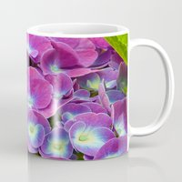 hydrangea Mugs featuring Hydrangea by Trevor Jolley