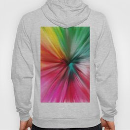 Modern abstract artsy colorful paint pattern Hoody