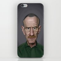 celebrity iPhone & iPod Skins featuring Celebrity Sunday ~ Bryan Cranston by rob art | illustration