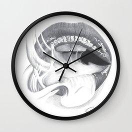 Dipendenza / Dependence - Smoke Lips - Mouth Wall Clock