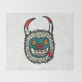 Traditional Croatian carnival mask from the region around Rijeka Throw Blanket