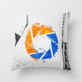 Aperture Vandal Throw Pillow