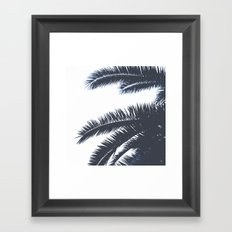 Palm Tree leaves abstract II Framed Art Print