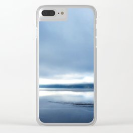 Soft winter sky Clear iPhone Case