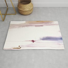Sugar and Spice [2]: a minimal, pretty abstract piece in pinks, purple, mauve, and tan Rug