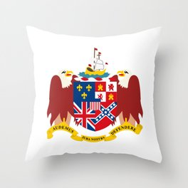 Coat of arms of Alabama Throw Pillow