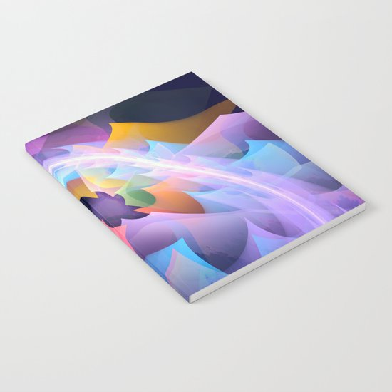 Cyclone of feelings, colourful fractal abstract Notebook