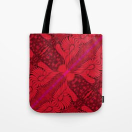 Diagonal Abstract Psychedelic Doodle 8 Tote Bag