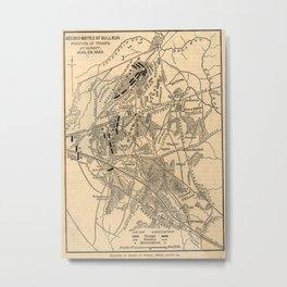 Vintage Battle of Bull Run Map (1886) Metal Print