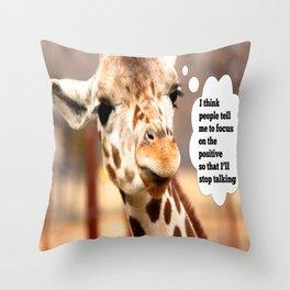 Keep Looking Up Throw Pillow
