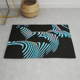 5143s-MAK Zebra Stripe Curves Sensual Female Body Art Rug