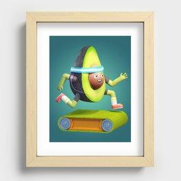 Running Avocado Recessed Framed Print
