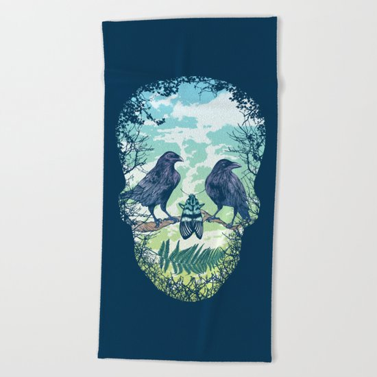 Nature's Skull Beach Towel