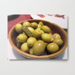 Spanish Olives Metal Print