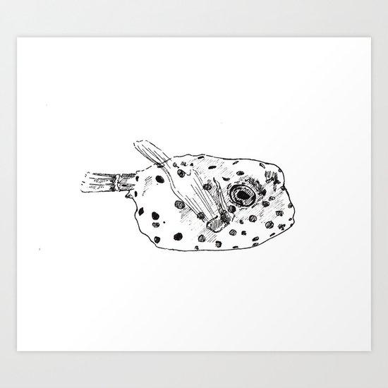 Little Puffer Art Print