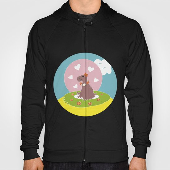 Capybara in Love Hoody