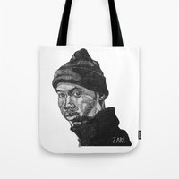 rap Tote Bags featuring Rap God by ZARE