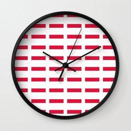 flag of monaco -monegasque,monte carlo,Grimaldi,Albert,casino,Mediterranean,French Riviera Wall Clock