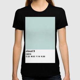 colorblock blue white T-shirt