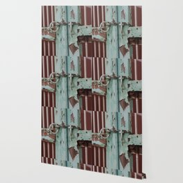 Closed Door Illustration with Chain Wallpaper
