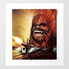 Star Wars _ Chewbacca Art Print