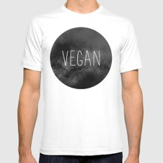 Vegan - Veganism Mens Fitted Tee White MEDIUM