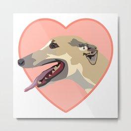 Greyhound drawing Metal Print