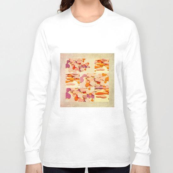 heart mosiac Long Sleeve T-shirt