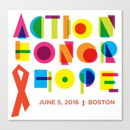 Action. Honor. Hope. Canvas Print