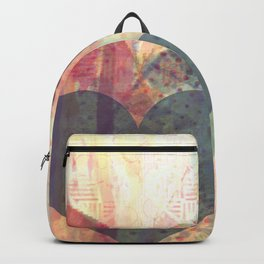 Vintage overlay heart Abstract Backpack