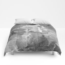 Black and White Foliage Comforters