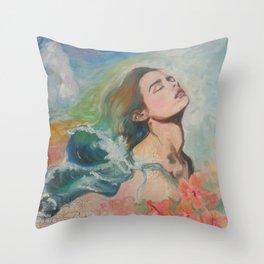 Hair like Waves Throw Pillow