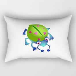 Green Bug Rectangular Pillow