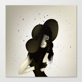 girl in the hat Canvas Print