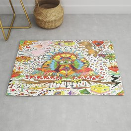 fantasy abstract doodle Rug