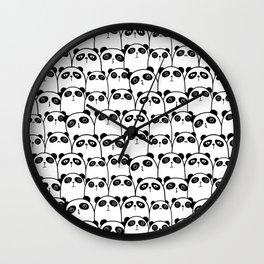 Cute Black & White Panda Pattern Wall Clock