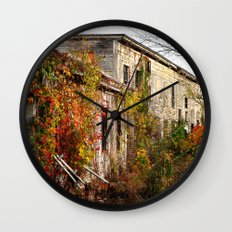 Somewhere in Rhode Island - Abandoned Mill 001  Wall Clock