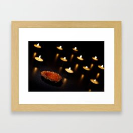 A Holder Without A Candle... Framed Art Print