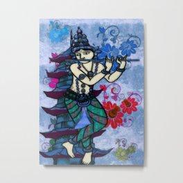 Krishna Rising Metal Print