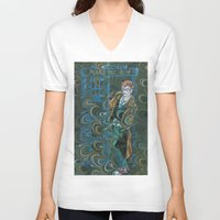 dr who V-neck T-shirts featuring Dr. Who by Alex Bayliss