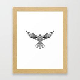 Dove Tribal Tattoo Framed Art Print