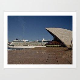 Cruise Ship In Sydney Art Print