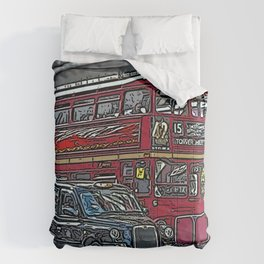 London bus and cab Comforters