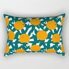 Art Deco Minimalist Orange Grove Rectangular Pillow
