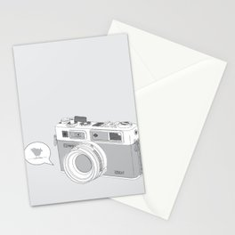 Yashica Camera - blue bird Stationery Cards