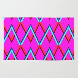 colored zigzags Rug