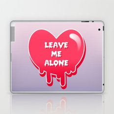 pastel melty heart leave me alone Laptop & iPad Skin