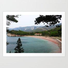 Lonely beach - Travel photo Art Print