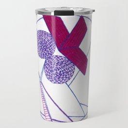 Abstract Geometric Iris Travel Mug