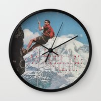 motivation Wall Clocks featuring MOTIVATION by Josh LaFayette